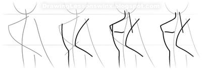Рисуем Винкс в профиль в полный рост