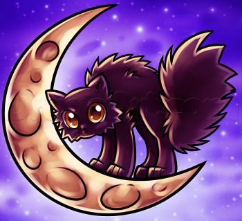Рисуем котенка на хэллоуин