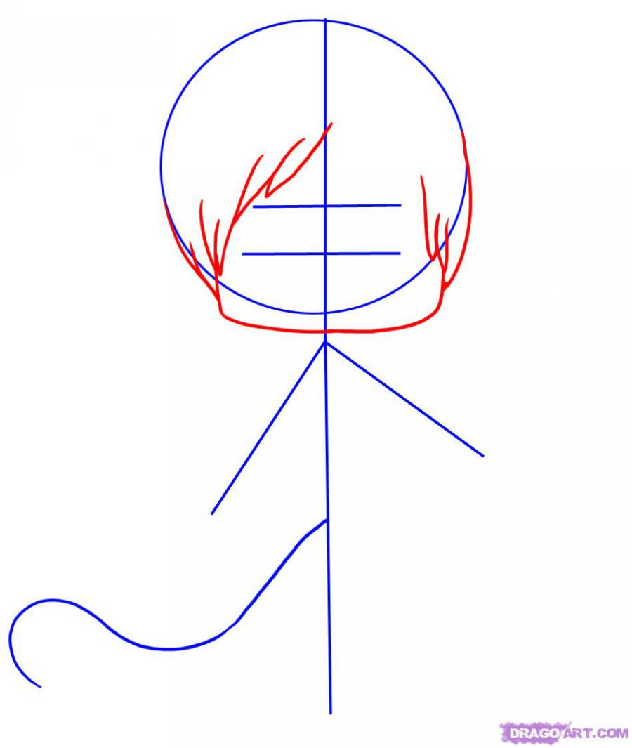 Рисуем мальчика дьявола