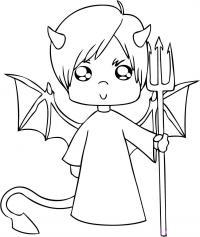 мальчика дьявола карандашом