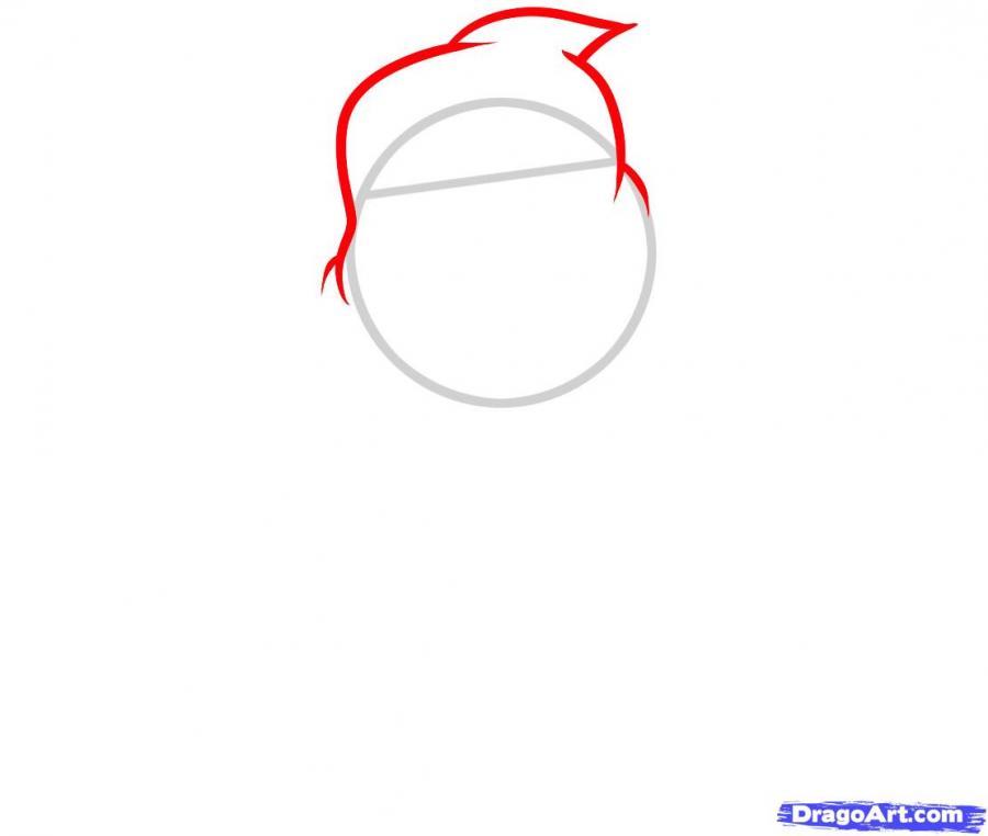 Рисуем призрака на Хэллоуин - шаг 2
