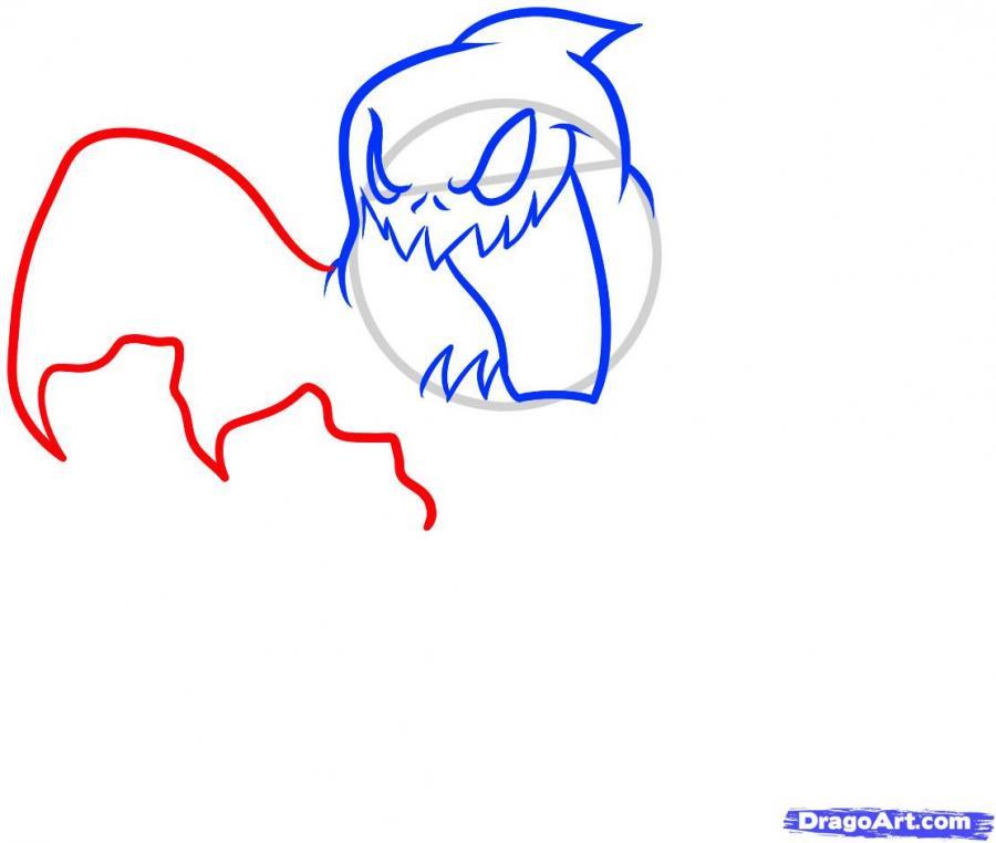 Рисуем призрака на Хэллоуин - шаг 5