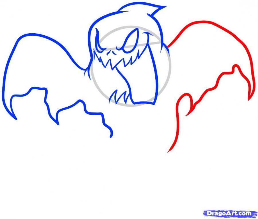 Рисуем призрака на Хэллоуин - шаг 6