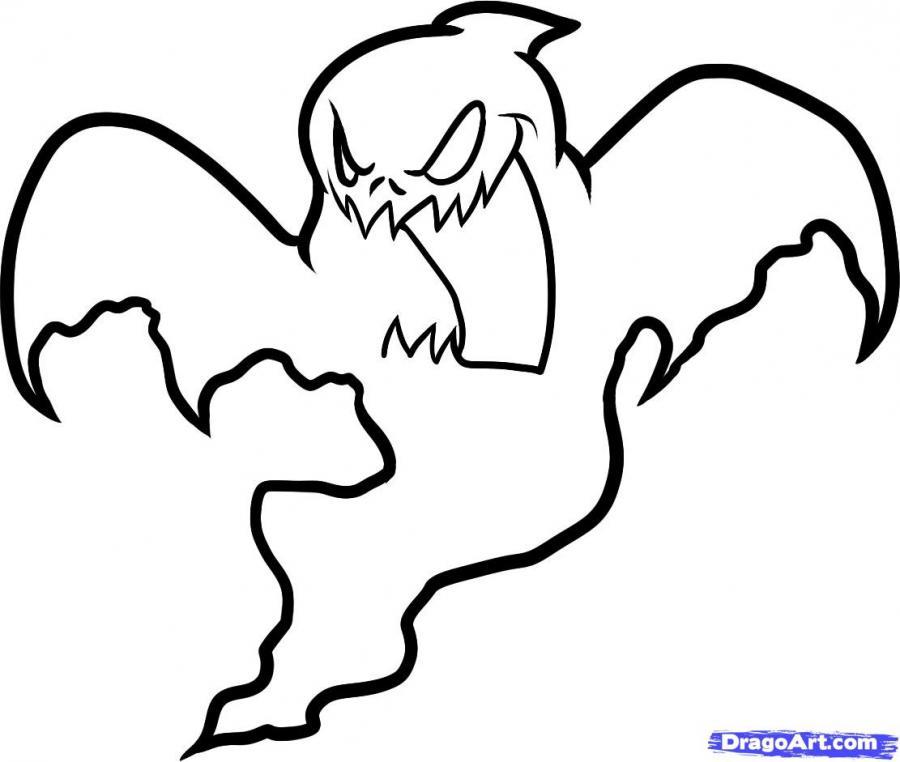 Как нарисовать призрака на Хэллоуин карандашом поэтапно