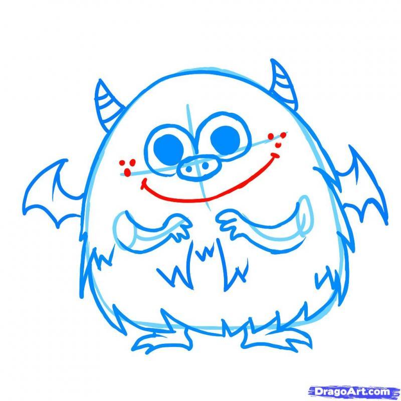 Рисуем симпатичного монстра на хэллоуин - шаг 6