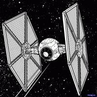 Фото TIE-Истребитель  из Star Wars карандашом