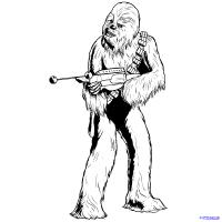Чубаку из Star Wars карандашом