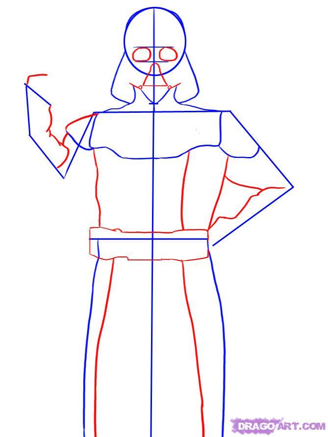Рисуем Дарта Вейдера - шаг 3