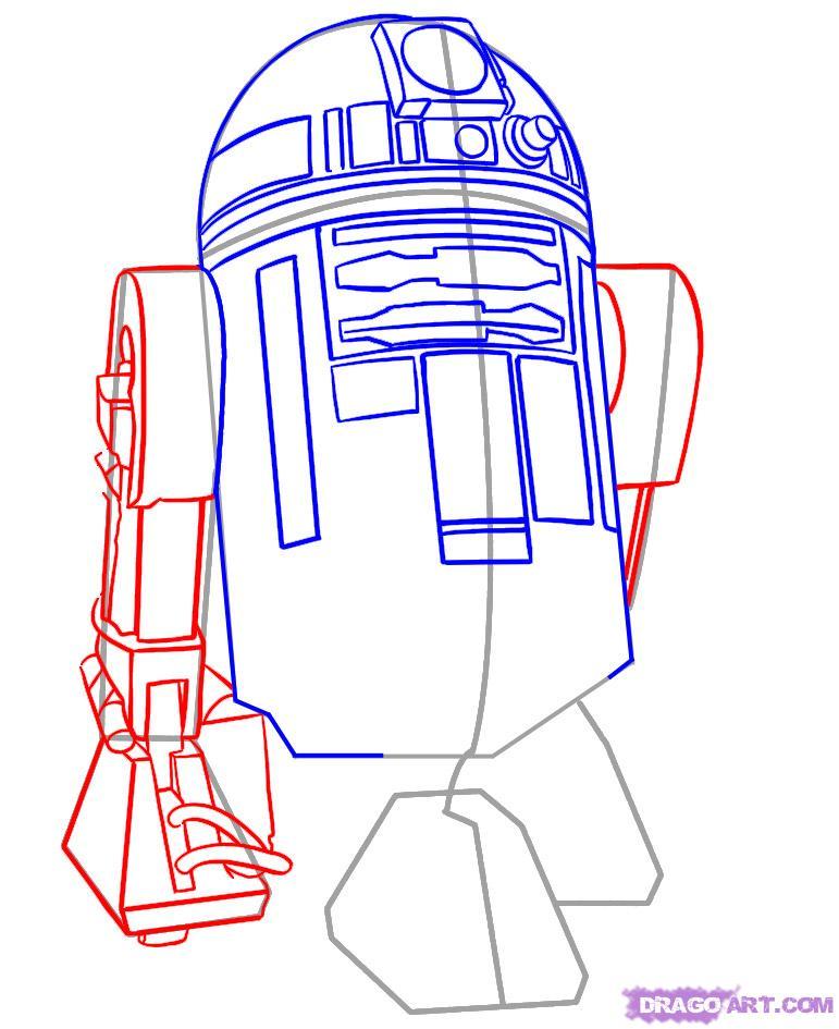 Как нарисовать Эр-два-дэ-два