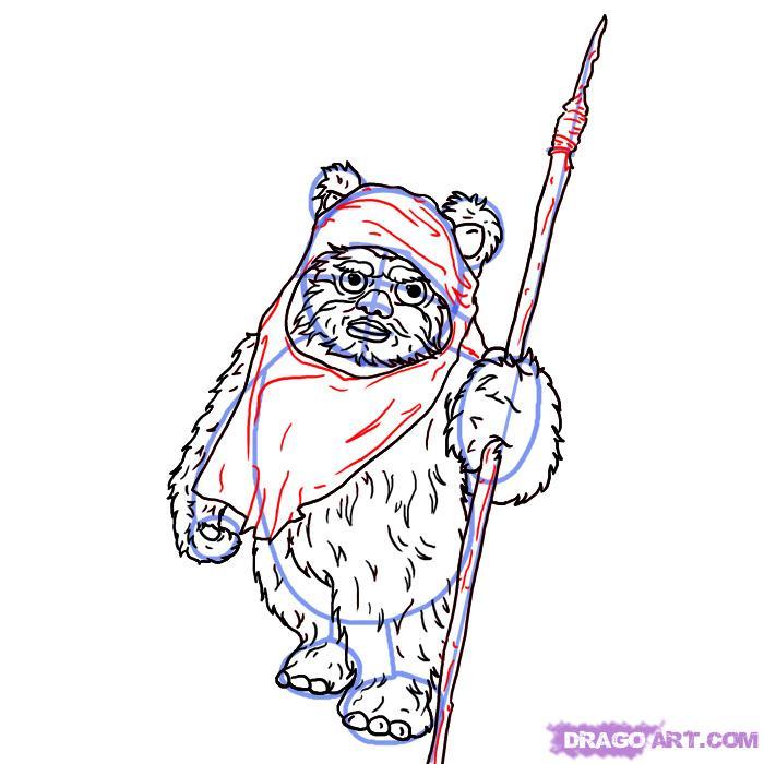 Рисуем Эвока из Star Wars
