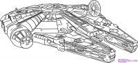 космический корабль из Star Wars   карандашом