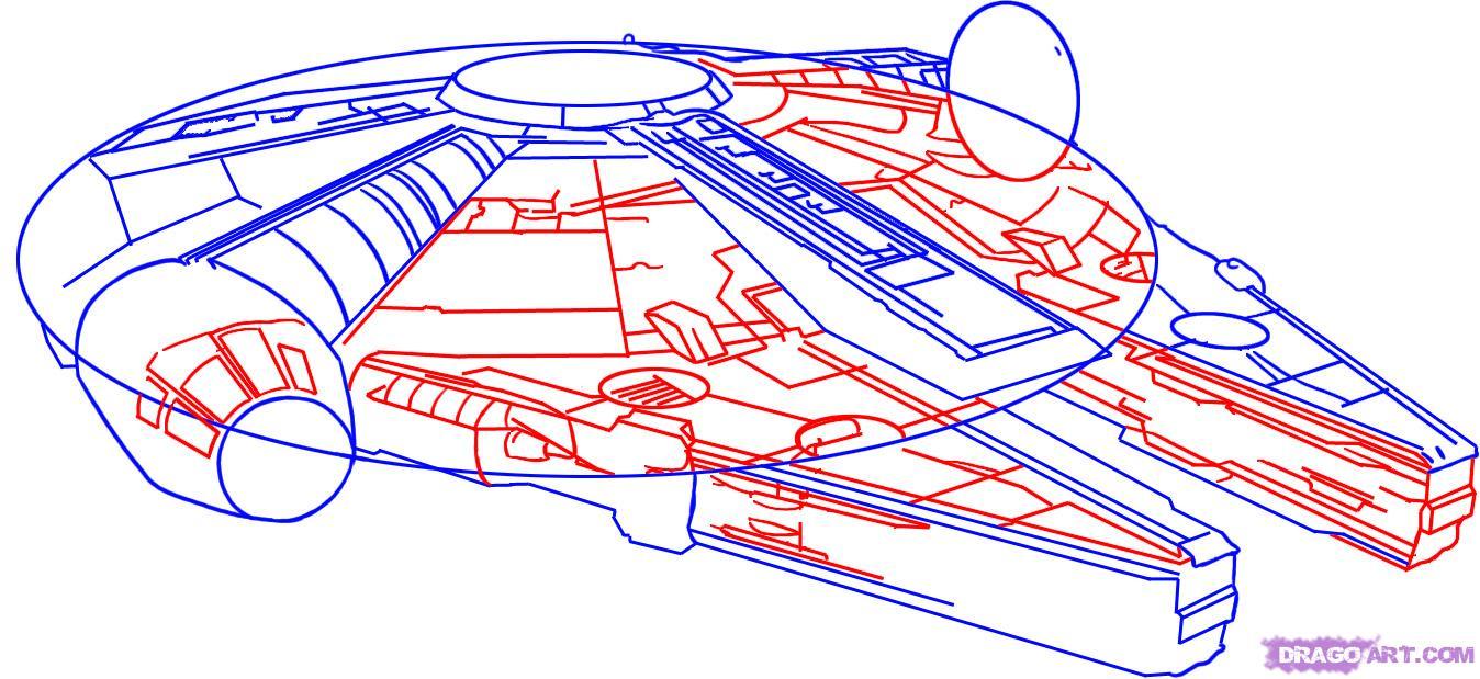Рисуем космический корабль из Star Wars
