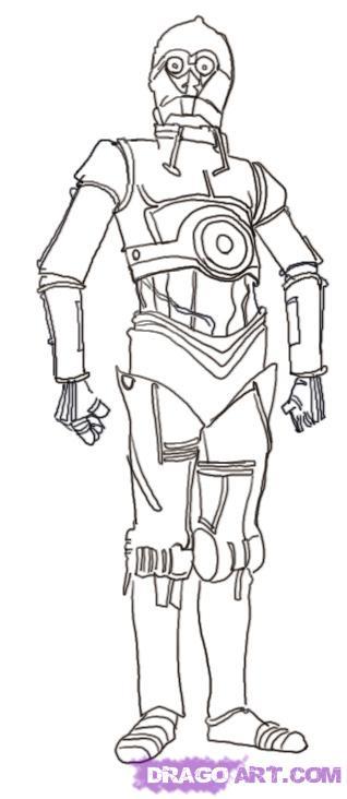 Рисуем Си-Три-Пи-О (C-3PO) из Star Wars