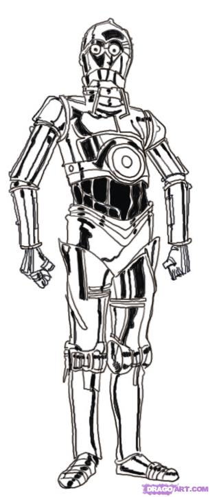 Free Coloring Pages Of Lego C3p0 C3po Coloring Page