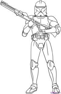 Солдата-клона из Star Wars  карандашом