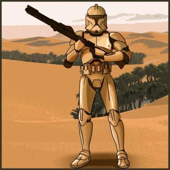 Рисуем Солдата-клона из Star Wars