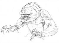 Рисование злобного Монстра