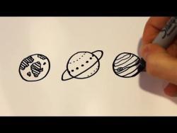 Как  нарисовать маркером планеты ребенку видео урок