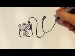 Как быстро и просто нарисовать Ipod ребенку видео урок
