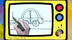 Как быстро и просто нарисовать машину ребенку видео урок