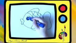 Как быстро и просто нарисовать рыбку ребенку видео урок