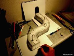 Как нарисовать 3D дорогу карандашом на бумаге видео урок