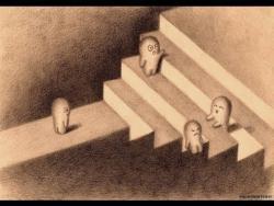Как нарисовать 3D лестницу видео урок