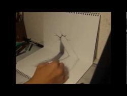 Как нарисовать 3D руку видео урок