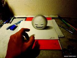 Как нарисовать 3D шар в стиле ART карандашом видео урок
