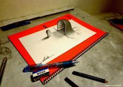 Как нарисовать 3D тайный вход
