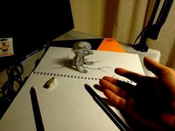 Как нарисовать 3Д лепрекона видео урок