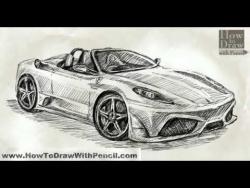 Как нарисовать Ferrari Scuderia Spider видео урок