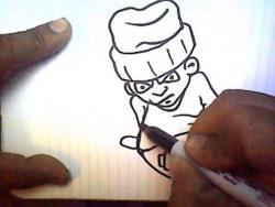 Как нарисовать  человека в стиле граффити видео урок