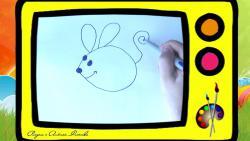 Как нарисовать  мышь ребенку видео урок