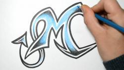 Как нарисовать английскую букву M в диком стиле видео урок