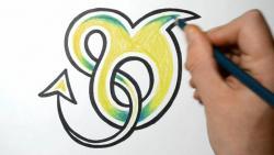 Как нарисовать английскую букву O в диком стиле видео урок