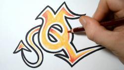Как нарисовать английскую букву Q в диком стиле видео урок