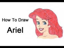 Как нарисовать Ариэль из мультфильма про русалочку видео урок