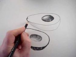 Как нарисовать авокадо карандашом видео урок