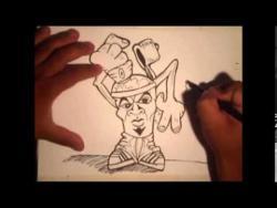 Как нарисовать баллончик в виде человека в стиле граффити видео урок