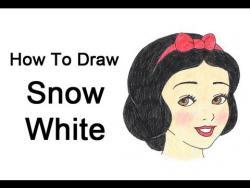Как нарисовать Белоснежку поэтапно видео урок