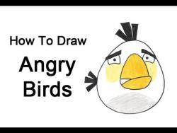 Как нарисовать белую птичку из Angry Birds видео урок