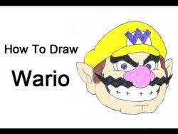 Как нарисовать бизнесмена Варио из игры Супер Марио видео урок