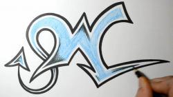 Как нарисовать букву W в диком стиле видео урок