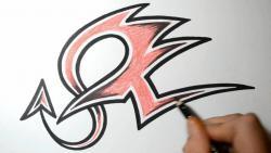 Как нарисовать букву Z в диком стиле видео урок