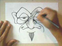 Как нарисовать человека с одурманенным взглядом в стиле графити видео урок