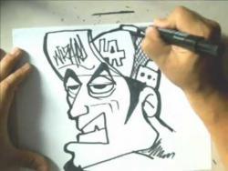 Как нарисовать человека в кепке в стиле граффити видео урок