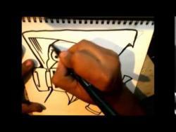 Как нарисовать человека в маске с баллончиком в стиле граффити видео урок