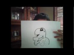 Как нарисовать черепаху с молотом в стиле граффити видео урок