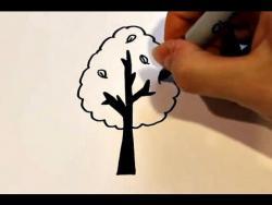 Как нарисовать дерево ребенку видео урок